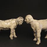 'Liebesworte' 2008 - Rakukeramik - H: 13,5 cm und 11,5 cm