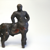 'Nessos' 2007 - Rakukeramik - H: 17 cm