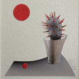 'Kaktus' 2020 - Collage - B|H: 8,5 cm x 8,5 cm