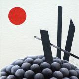 'Kugelberg' 2021 - Collage B|H 8,5 x 8,5 cm
