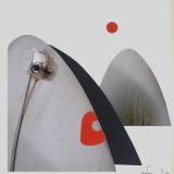 'Wüstenberge' 2020 - Collage - B|H: 8,5 x 8,5 cm