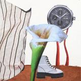 'Stillleben mit Schuh' 2020 - Collage - B|H: 8,5|8,5 cm