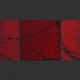 'Durch die Hölle' 2008 - Acryl - 3 Bilder  B|H: 20|20 cm
