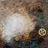 'Lebenslauf' 2012 - Assemblage - B H: 20 20 cm