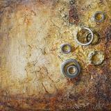 'Spuren der Vergangenheit II' 2012 - Assemblage - B H: 20 20 cm