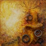 'Spuren der Vergangenheit V' 2012 - Assemblage - B H: 20 20 cm