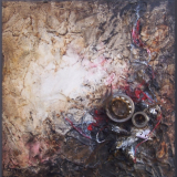 'Spuren der Vergangenheit VII' 2012 - Assemblage - B H: 20 20 cm