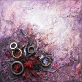 'Spuren der Vergangenheit VIII' 2012 - Assemblage - B H: 20 20 cm