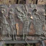 'Wartende' 1996 - Bronzerelief - B|H: ca. 40|32 cm
