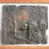 'Ruine an der Tisca' 1999 - Bronzerelief - B|H: ca. 45|38 cm