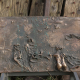 'Mistral' 2004 - Bronzerelief - B|H: ca. 44|28 cm