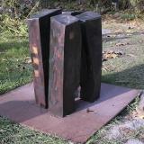 'Schwarze Architektur' 2009 - Eiche - B|H|T: ca. 55|55|55 cm