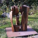 'Die Zwei' 2000 - Eiche - B|H|T: ca. 70|70|70 cm