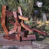 'Gebautes' 2005 - Eiche - B|H|T: ca. 110|85|50 cm