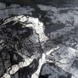 'Tiefes Dunkel'  1988 - Tusche - B|H: 70|50 cm